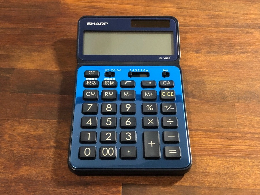 シャープの電卓 EL-VN82