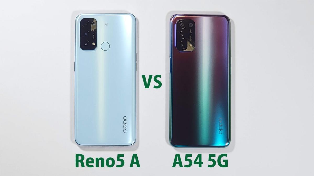 「OPPO Reno5 A」と「OPPO A54 5G」