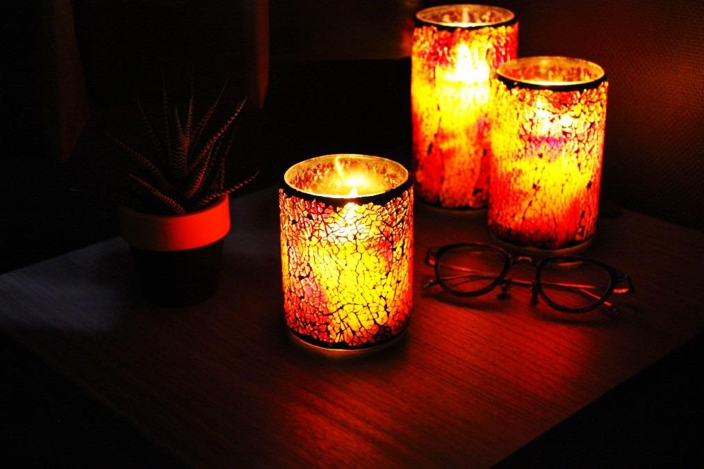 HONONARI LEDキャンドルライト Stained glass